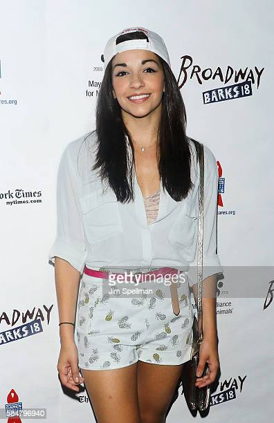 Actress Ana Villafane from 'On Your Feet The Musical' attends the 18th Annual Broadway Barks at Shubert Alley on July 30 2016 in New York City
