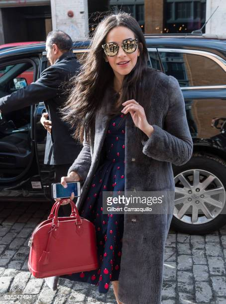 Actress Ana Villafane is seen arriving to the Carolina Herrera Collection during New York Fashion Week on February 13 2017 in New York City