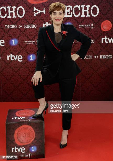 Actress Anabel Alonso attends the 'Dicho y hecho' program presentation at Colliseum theatre on March 5 2018 in Madrid Spain