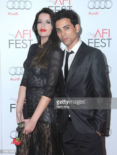 Actress Anabela Moreira and actor Rafael Morais arrive to the 2012 AFI FEST 'Holy Motors' special screening held at Grauman's Chinese Theatre on...