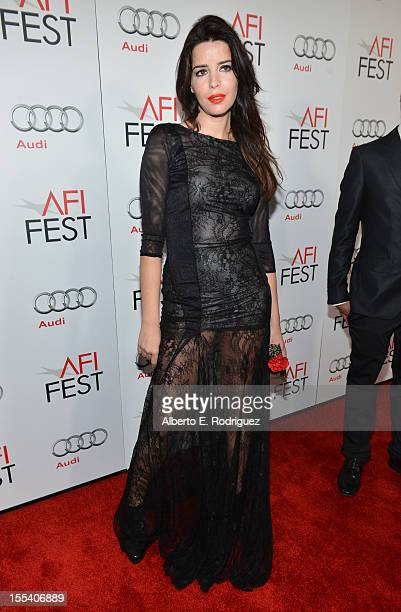 Actress Anabela Moreira arrives at the 'Holy Motors' special screening during the 2012 AFI Fest at Grauman's Chinese Theatre on November 3 2012 in...