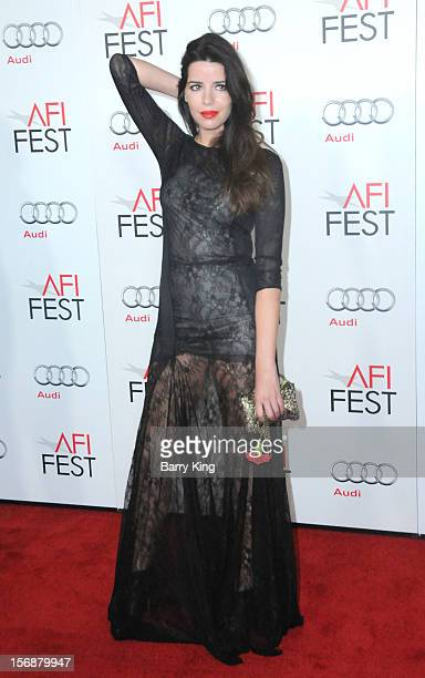 Actress Anabela Moreira arrives to the 2012 AFI FEST 'Holy Motors' special screening held at Grauman's Chinese Theatre on November 3 2012 in Hollyood...