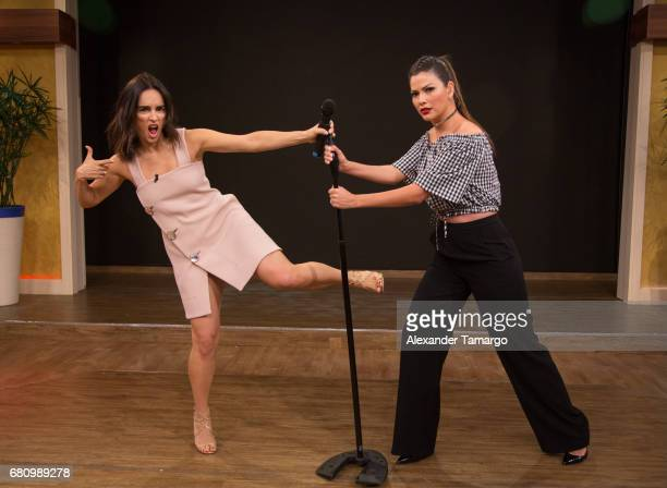 Actress Anabell Gardoqui Ana de la Reguera and Ana Patricia Gamez are seen on the set of 'Despierta America' at Univision Studios on May 9 2017 in...