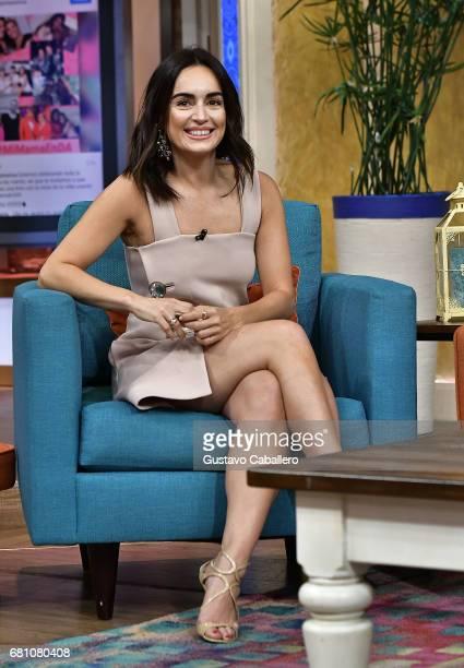 Actress Anabell Gardoqui 'Ana' de la Reguera is seen on the set of 'Despierta America' at Univision Studios on May 9, 2017 in Miami, Florida.