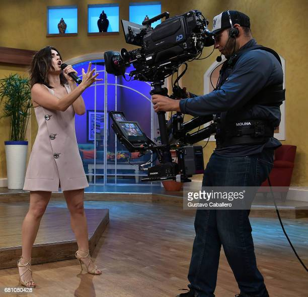 Actress Anabell Gardoqui 'Ana' de la Reguera is seen on the set of 'Despierta America' at Univision Studios on May 9 2017 in Miami Florida