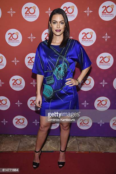 Actress Anabelle Acosta walks the red carpet before the Kevin Hart Official After Party with DJ Ruckus for Mohegan Sun's 20th Anniversary on October...