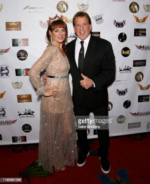 Actress Anabelle Munro and actor Jake Steinfeld attend the Action on Film MEGAFest International Film Festival at the Rio Hotel Casino on August 3...