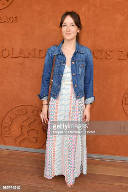 Actress Anais De Moustier attends the 2018 French Open Day Thirteen at Roland Garros on June 8 2018 in Paris France