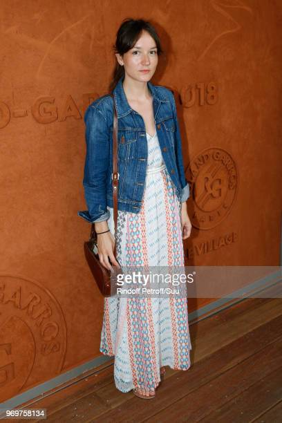 Actress Anais Demoustier attends the 2018 French Open Day Thirteen at Roland Garros on June 8 2018 in Paris France