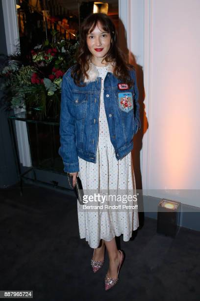 Actress Anais Demoustier attends the Annual Charity Dinner hosted by the AEM Association Children of the World for Rwanda at Pavillon Ledoyen on...