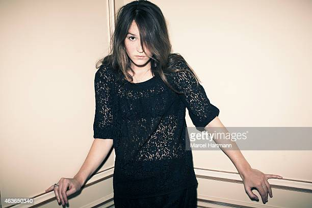 Actress Anais Demoustier Emmanuelle Devos are photographed for Self Assignment on December 1 2010 in Paris France