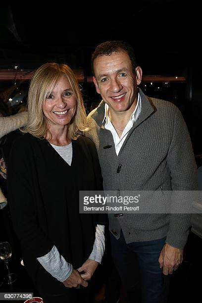 Actress Anais Jeanneret and Dany Boon attend at Bistrot Alexandre III after Dany Boon des Hauts de France Show at L'Olympia on December 31 2016 in...