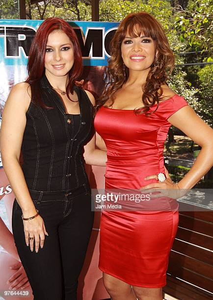 Actress Anais Salazar and Lili Brillanti pose during the presentation of the H Extremo Magazine at the Castelar Restaurant on March 11 2010 in Mexico...