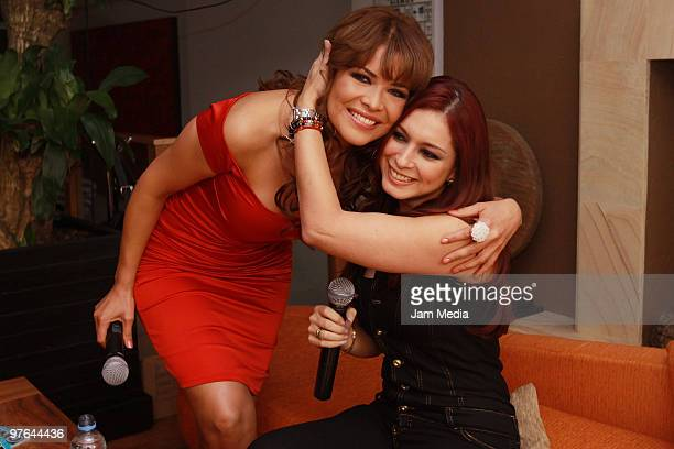 Actress Anais Salazar and Lili Brillanti speak during the presentation of the H Extremo Magazine at the Castelar Restaurant on March 11 2010 in...