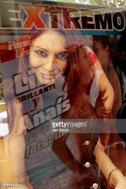 Actress Anais Salazar poses during the presentation of the H Extremo Magazine at the Castelar Restaurant on March 11 2010 in Mexico City Mexico
