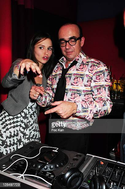 Actress Anais Tellenne and her father TV presenter Karl Zero attend the Karl Zero DJ set party at the Hotel Murano on November 18 2010 in Paris France