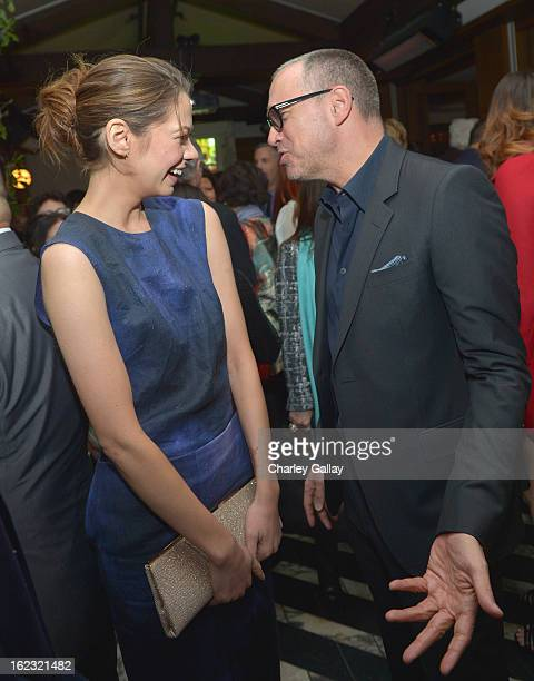 "Actress Analeigh Tipton and Publisher of Vanity Fair Edward Menicheschi attend Vanity Fair and the Fiat brand Celebration of ""Una Notte Verde"" with..."