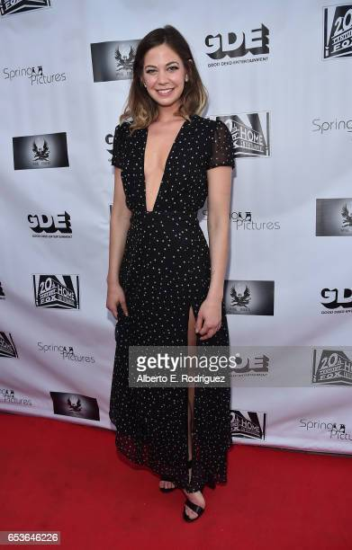 Actress Analeigh Tipton attends a screening of Good Deed Entertainment's All Nighter at Ahrya Fine Arts Theater on March 15 2017 in Beverly Hills...