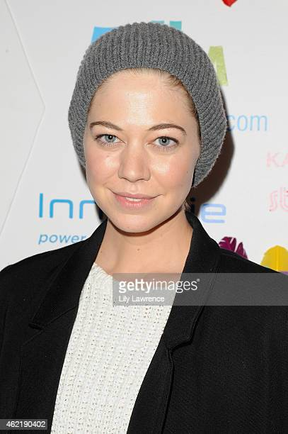 Actress Analeigh Tipton attends Kari Feinstein's Style Lounge presented by Aruba on January 25 2015 in Park City Utah