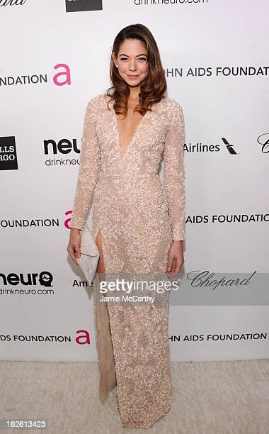 Actress Analeigh Tipton attends the 21st Annual Elton John AIDS Foundation Academy Awards Viewing Party at West Hollywood Park on February 24 2013 in...
