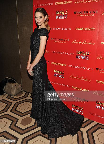 Actress Analeigh Tipton attends the Cinema Society with Town Country and Brooks Brothers screening of Damsels in Distress at the Tribeca Grand...