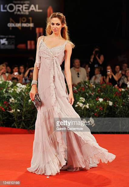 Actress Analeigh Tipton attends the Damsels In Distress premiere and closing ceremony during the 68th Venice Film Festival at Palazzo del Cinema on...