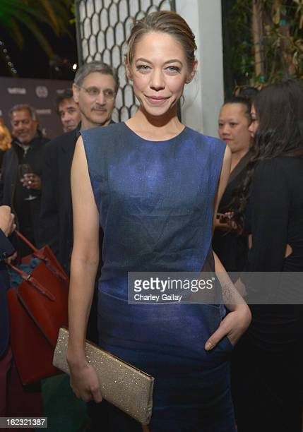 "Actress Analeigh Tipton attends Vanity Fair and the Fiat brand Celebration of ""Una Notte Verde"" with Hans Zimmer and Ron Howard in support of The..."