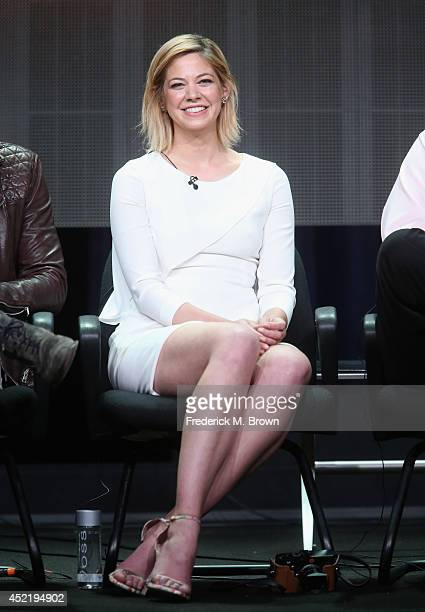 Actress Analeigh Tipton speaks onstage at the 'Manhattan Love Story'' panel during the Disney/ABC Television Group portion of the 2014 Summer...