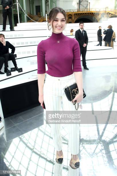 Actress Anamaria Vartolomei attends the Chanel show as part of the Paris Fashion Week Womenswear Fall/Winter 2020/2021 on March 03 2020 in Paris...