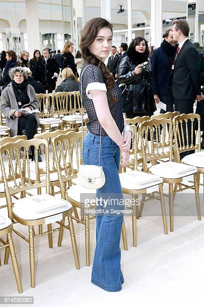 Actress Anamaria Vartolomei attends the Chanel show as part of the Paris Fashion Week Womenswear Fall/Winter 2016/2017 on March 8 2016 in Paris France