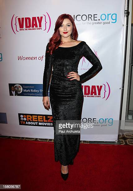 Actress Anastasia Baranova attends the 14th annual fundraising gala 'Diamonds Pearls Beauty Through Adversity' a new way of life reentry project at...