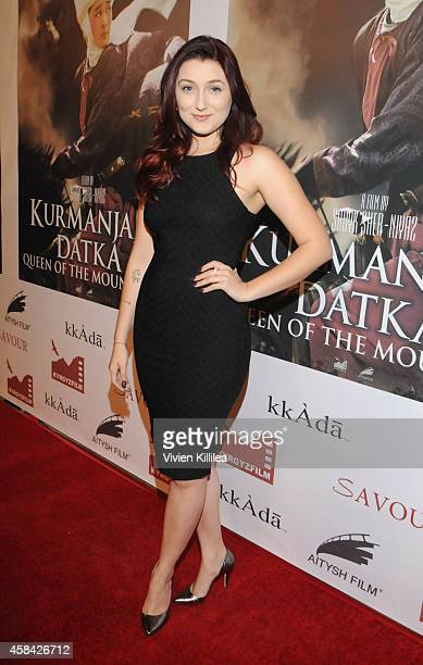 Actress Anastasia Baranova attends the 'Kurmanjan Datka Queen Of The Mountains' Red Carpet VIP Reception And Special Screening at the Egyptian...
