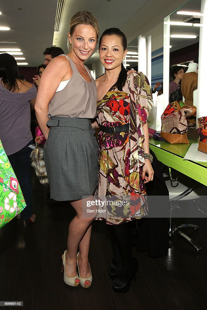 Actress Anastasia Griffith and designer Thuy Diep attend the Celebrate Summer in Style party at Cutler Soho Salon on May 19, 2010 in New York City.
