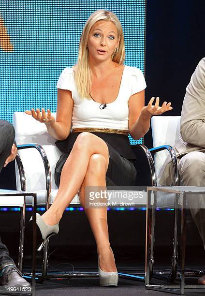 Actress Anastasia Griffith speaks at the 'Copper' discussion panel during the BBC America portion of the 2012 Summer Television Critics Association...