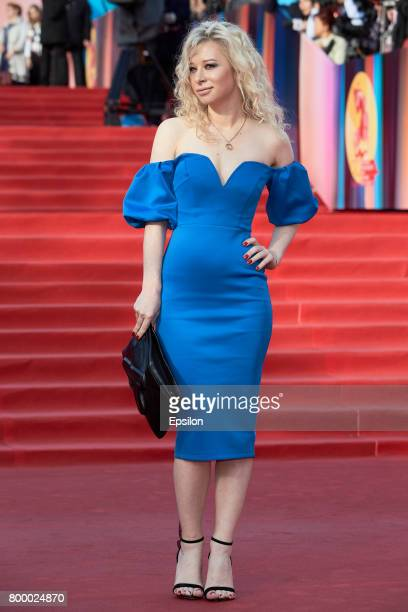 Actress Anastasia Grishchenko attends opening of the 39th Moscow International Film Festival outside the Karo 11 Oktyabr Cinema on June 22 2017 in...