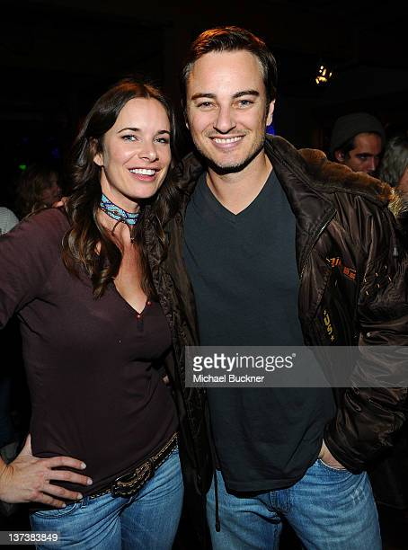 Actress Anastasia Roark and actor Kerr Smith attend the Open House at Bing Bar on January 19 2012 in Park City Utah