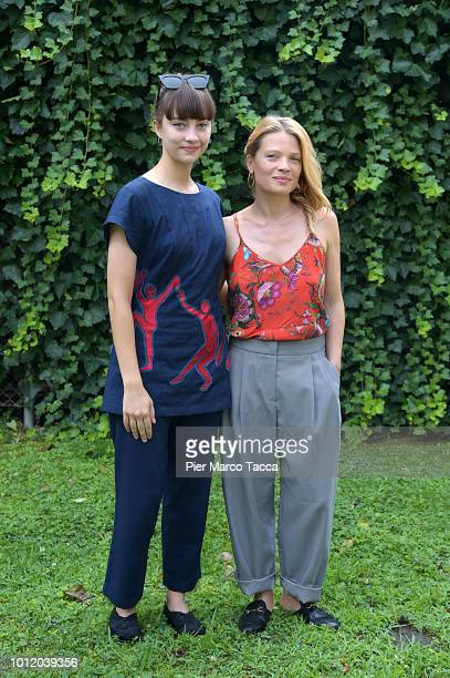 Actress Anastasia Shevtsova and Melanie Thierry attend the 'Le Vent Tourne' photocall during the 71st Locarno Film Festival on August 6 2018 in...