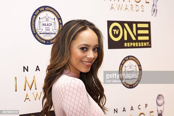 Actress Anber Stevebs West attends the 48th NAACP Image Awards Nominees Luncheon at Loews Hollywood Hotel on January 28 2017 in Hollywood California