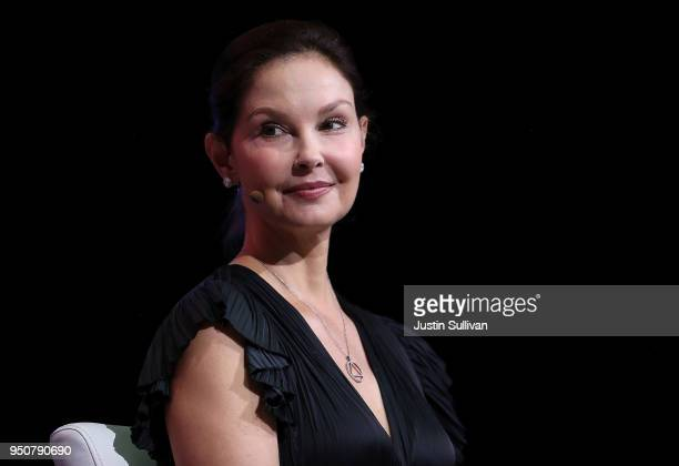 Actress and activist Ashley Judd looks on during the 29th annual Conference of the Professional Businesswomen of California on April 24, 2018 in San...