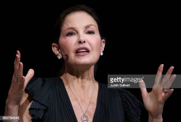 Actress and activist Ashley Judd speaks during the 29th annual Conference of the Professional Businesswomen of California on April 24 2018 in San...
