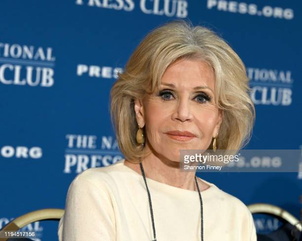 Actress and activist Jane Fonda attends the National Press Club Headliners Luncheon at the National Press Club on December 17 2019 in Washington DC