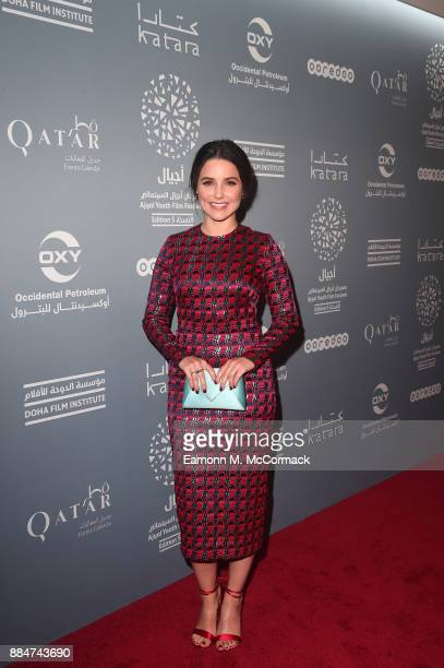 Actress and activist Sophia Bush poses after a meeting with jurors during the Ajyal Youth Film Festival on December 2 2017 in Doha Qatar