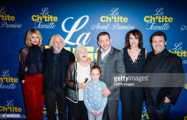 Actress and actors Laurence Arne Pierre Richard Line Renaud Juliane Lepoureau Danny Boon director Valerie Bonneton and Guy Lecluyse at the premiere...