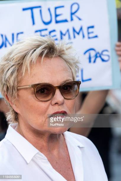 Actress and actress Muriel Robin is present at a rally that brought together several hundred people on Saturday July 6 2019 at the Place de la...