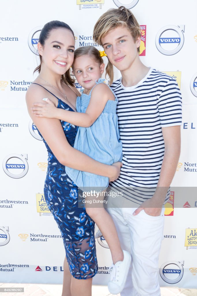 Actress and ALSF Spokeperson Bailee Madison, her Niece Riley and Boyfriend Alex Lange arrive for the 8th Annual L.A. Loves Alex's Lemonade at UCLA Royce Quad on September 9, 2017 in Los Angeles, California.