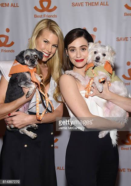 Actress and animal rights activist Beth Stern and actress Emmy Rossum attend the New York Notables Gathering at the Best Friends Animal Society...