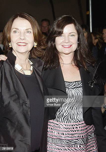 Actress and artist Sandra Stephenson with daughter fashion designer Jennifer Nicholson attend Previous Images a multimedia exhibition of Sandra...
