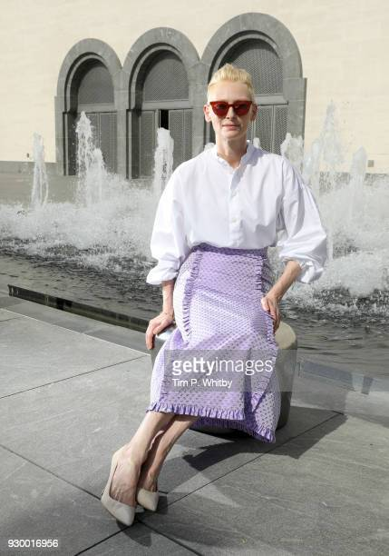 Actress and artist Tilda Swinton poses during a portrait session on day one of Qumra the fourth edition of the industry event by the Doha Film...