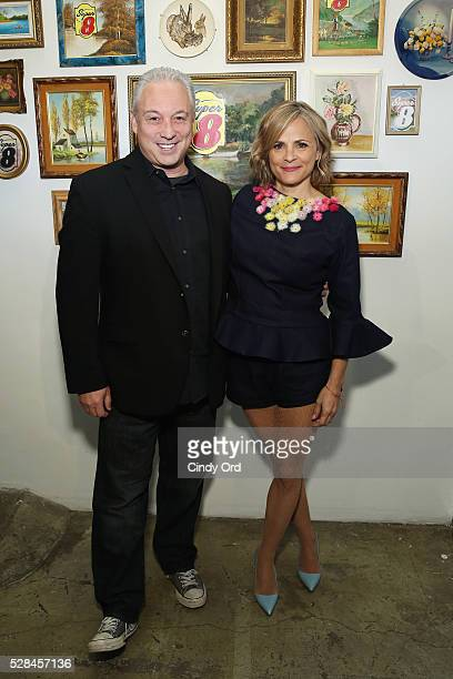 Actress and author Amy Sedaris joins Super 8 SVP of Brand Operations Mike Mueller at a oneofakind gallery event to giveaway the brand's old hotel art...