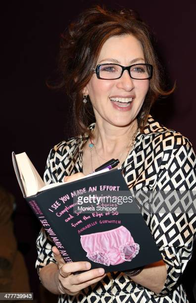 Actress and author Annabelle Gurwitch signs copies of her book following the I See You Made An Effort event based on the book by Annabelle Gurwitch...